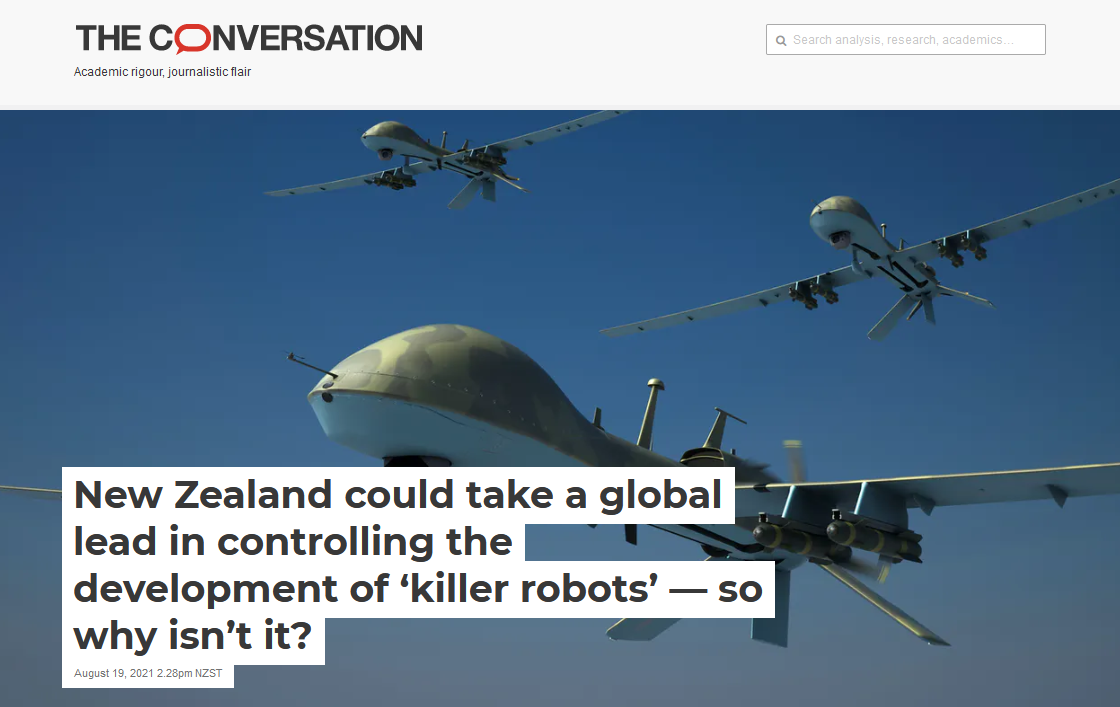 New Zealand could take a global lead in controlling the development of 'killer robots' — so why isn't it?